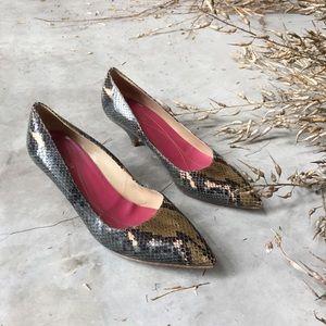 Kate Spade Snake Kitten Heel size 10